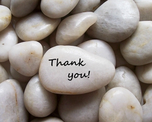 """Your """"Thank you"""" stone"""